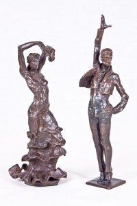 Escultura Gitana y Gitano bailando