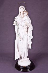 Escultura Armani Virgen con niño y lirios (Madonna with child and lilies)