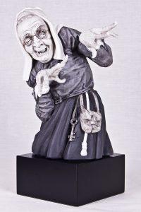Escultura Bruja negra gafas